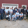"Henry Abbott Technical students gathered outside a barn on Tuesday, March 20, at a Queen Street property where they are wrapping up work on installing a geothermal heating and air conditioning system. The worked under the direction of Henry Abbott Tech teachers Dan DiLernia, left, and Bill Clark, right.   —Bee Photo, Hallabeck<br /> <br /> Read more here:<br /> Abbott Tech Students Make One Newtown Resident's Home ""Green""<br />  <a href=""http://newtownbee.com/2012-03-22__14-26-25"">http://newtownbee.com/2012-03-22__14-26-25</a>"