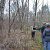 State forester Larry Rousseau, second from left, advises NFA President Bob Eckenrode on the importance of addressing invasive plants in the undergrowth before opening up the forest canopy, while Conservation Commission members Mary Gaudet-Wilson and Michelle McLeod listen closely.  (Crevier photo)
