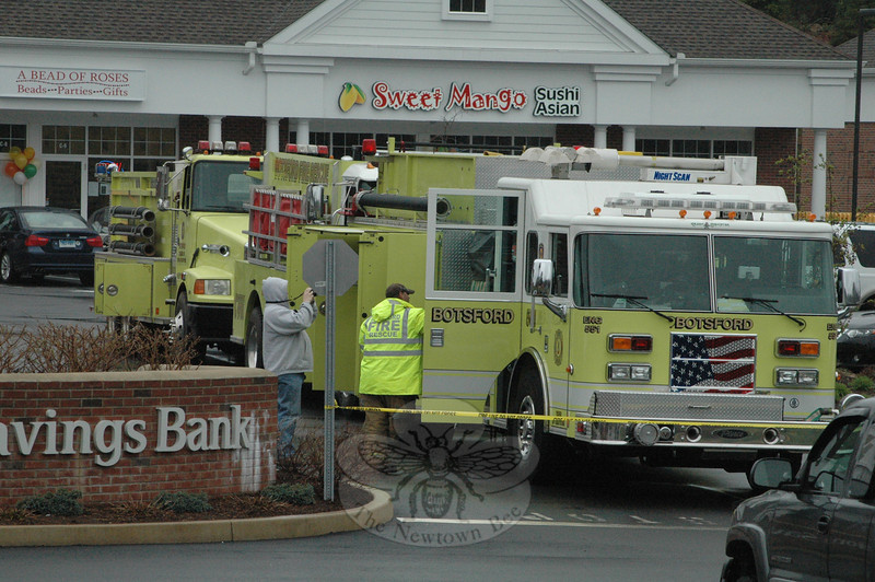Botsford Fire Rescue Company sent three of its fire vehicles to Plaza South for an equipment display and discussion session on volunteer firefighting during a block party on Sat-urday, March 31.   (Gorosko photo)