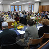 About 150 people attended the Newtown Interfaith Passover Seder at Congregation Adath Israel.  (Gorosko photo)