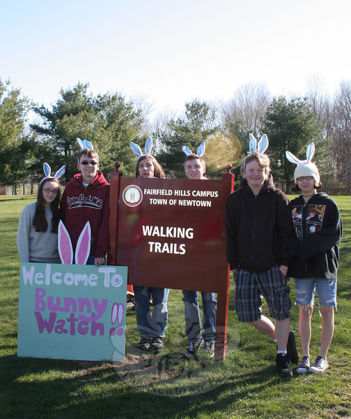 """Members of the Newtown High School Odyssey of the Mind team heading to the national level of the problem solving competition arrived very early Friday morning to begin setting up for the first of their two-day Bunny Watch Hayrides event at Fairfield Hills.   (Hicks photo)<br /> <br /> PLEASE NOTE: Additional photos from the 2012 Bunny Watch Hayride were used for a slideshow, and have been filed in a separate photo album. Those photos can be found here: <a href=""""http://photos.newtownbee.com/Events/This-Years-Bunny-Watch-Drew-A/22438766_g7zw24#!i=1793915895&k=8b2xDpq"""">http://photos.newtownbee.com/Events/This-Years-Bunny-Watch-Drew-A/22438766_g7zw24#!i=1793915895&k=8b2xDpq</a>"""