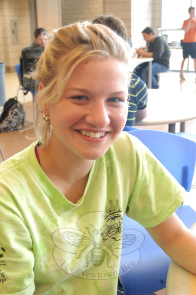 Newtown Bee: What quality do you most admire in others? Kendyl Harmeling: Humor.  (Hal-labeck photo)