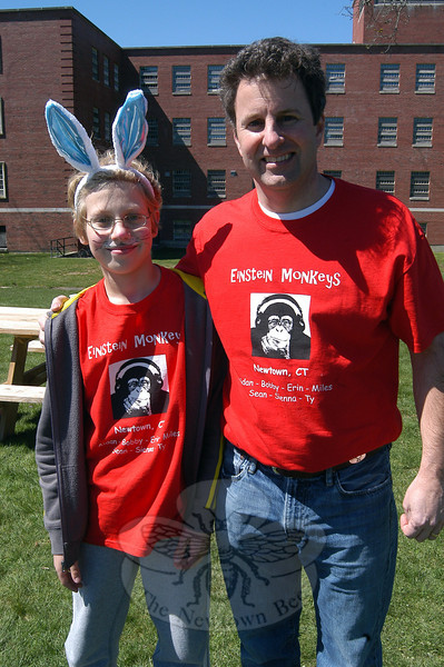 "Reed fifth grade Odyssey of the Mind Einstein Monkeys team member Aidan Schmidt, left, stands with team coach Greg Martiska.   (Hallabeck photo)<br /> <br /> PLEASE NOTE: Additional photos from the 2012 Bunny Watch Hayride were used for a slideshow, and have been filed in a separate photo album. Those photos can be found here: <a href=""http://photos.newtownbee.com/Events/This-Years-Bunny-Watch-Drew-A/22438766_g7zw24#!i=1793915895&k=8b2xDpq"">http://photos.newtownbee.com/Events/This-Years-Bunny-Watch-Drew-A/22438766_g7zw24#!i=1793915895&k=8b2xDpq</a>"