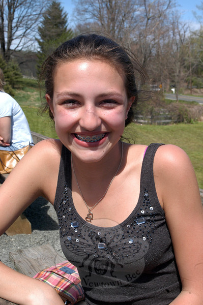 Newtown Bee: What is your favorite summertime drink?  Emma Gianoplus: Piña colada, non-alcoholic. (Hallabeck photo)