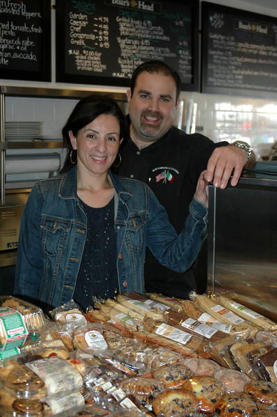 Sandy Hook Deli & Catering owners Artie and Annie Praino welcomed visitors and well wishers inside their new location on Saturday, April 14.  (Voket photo)