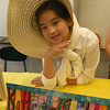 Middle Gate fourth grade student Victoria Stevens portrayed Katharine Hepburn during the school's Living Biographies event on Thursday, April 12.   (Hallabeck photo)