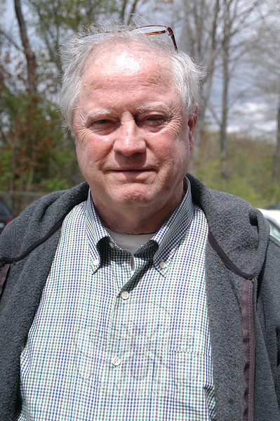 Newtown Bee: What do you think makes people turn out to vote? Larry Cavanaugh: They want to reduce the taxes.   (Hallabeck photo)