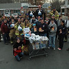 Firefighters from all five of the town's volunteer fire companies took part in their annual holiday-season food drive for the needy, which was held outside two local supermarkets on Saturday, November 20. The combined efforts resulted in the donation of 73 turkeys, and 128 storage boxes of food items, as well as $1,500 in the form of supermarket gift cards and cash. The collected items were delivered by firefighters to FAITH Food Pantry in Sandy Hook. Shown here are firefighters from Sandy Hook, Hawleyville and Hook & Ladder, who gathered in front of The Big Y to receive donations. A second group of firefighters, representing Botsford and Dodgingtown, collected food at Stop & Shop.  (Gorosko photo)