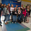 Juniors and seniors at Newtown High School were the first students to be served breakfast by the school's Positive Behavior Interventions and Supports (PBIS) team in celebration of the students having perfect attendance during the first quarter of the school year.  (Hallabeck photo)