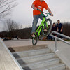 Skateboarders and BMX riders filled Newtown's new skate park at Dickinson Park earlier this week, and during the weekend. Newtown's Parks & Recreation Department plans to host a formal grand opening in early December.  (Bobowick photo