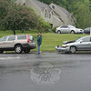 A two-car accident occurred at the intersection of Church Hill Road and Commerce Road about 8:42 am on May 22, police report. Motorist Lori Friedlander, 48, of 22 Taunton Lake Drive, who was driving a 2001 Volvo V-70 station wagon, was waiting at a red traffic signal at the intersection when the Volvo was struck from behind by a 2003 Nissan Sentra sedan driven by Anthony Ferland, 52, of Bridgeport, according to police. There were no injuries. Hook & Ladder firefighters and Newtown Volunteer Ambulance Corps members responded to the incident. Police said there was enforcement against Ferland.  (Hicks photo)