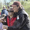Pete Peterson makes quick work of tying a fly as he demonstrates the art for a group of young attendees, as the Candlewood Valley Chapter of Trout Unlimited conducted its annual Youth Day this spring.   (Voket photo)