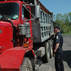 A truck inspection project on May 18 was conducted by municipal police from Newtown, Monroe, and Trumbull with state Department of Motor Vehicles truck inspectors.    (Gorosko photo)