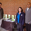 Newtown Health District Director Donna Culbert is flanked by State Representative Chris Lyddy, left, and Board of Education member John Vouros outside the April 24 budget referendum at Newtown Middle School where she was promoting Lyme Disease Awareness.  (Voket photo)