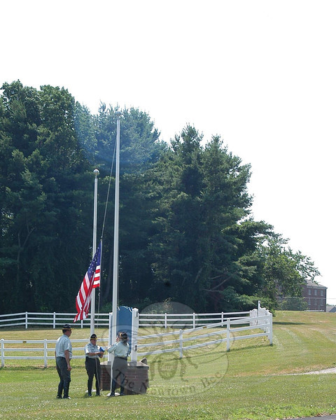 The Second Company Governor's Horse Guard's grounds, Wednesday, July 17.  (Hallabeck photo)