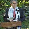 Rabbi Shaul Praver of Congregation Adath Israel provided the invocation at the 9/11 memorial service.   (Gorosko photo)