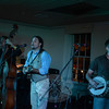 Despite a few glitches with the sound system, Floodwood showcased a foot-stomping, crowd-pleasing set at Sandy Hook's Stone River Grille on September 7. The bluegrass supergroup sold out the restaurant's loft drawing curious newcomers as well as many fans of Wooden Spoon and moe., the bands from which Floodwood draws its personnel. Pictured here are Floodwood members bassist Zachary Fleitz, mandolin player Jason Barady and multi-instrumentalist Nick Piccininni.    (Voket photo)