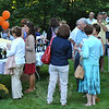 Crowds of Kevin's Community Center supporters fill the lawn at 50 Main Street, sampling dozens of wines and vodkas (as well as a complimentary glass of sparkling wine), and appetizers, too. A silent auction of items donated by local and area businesses, and garden tours added to enjoyment of the afternoon.    (Crevier photo)