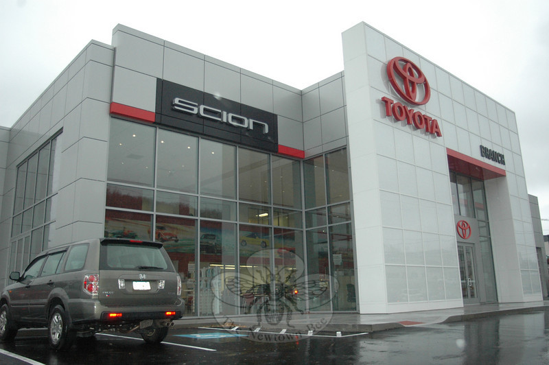 The naturally lit, spacious, and welcoming showroom at the New Branch Toyota on Straights Turnpike in Watertown is minutes from Newtown via Interstate 84, providing a convenient alternative to car buyers who may normally head toward the Danbury area.  (Voket photo)