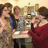 Aileen Nosal, right, was sworn in as Newtown's newest assistant town clerk November 30 by Town Clerk Debbie Aurelia, while fellow staffers Renee Weimann and Monica Duhancic look on. Ms Nosal, a Newtown resident, previously served as assistant town clerk in Redding, where she also worked in the tax collector's office.  (Voket photo)