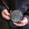 A shoulder patch from the Chesapeake Beach Volunteer Fire and Rescue Department, Inc, of Virginia Beach is shown. It is one of the many patches that will be mounted in the new display cases.   (Gorosko photo)