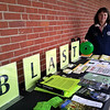 Health District Director Donna Culbert was stationed outside the Newtown Middle School referendum polls April 23, chatting with residents about tickborne disease prevention and promoting the successful BLAST protocol to reduce tickborne diseases.   (Voket photo)