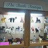 """A local fabric artist knitted 26 """"critters"""" that are on display at Cyrenius H. Booth Library through at least the end of April. The artist, who wishes to remain anonymous, dedicated the Critter Collection, according to library staff, to the children and adults lost on 12/14.   (Dietter photo)"""