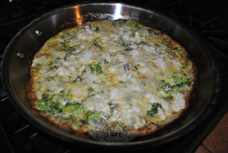 Sautéed vegetables whisked into eggs, then topped with cheese and broiled is an easy and delicious Mother's Day -- or any day -- frittata.   (Crevier photo)