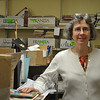 Denise Kaiser, who heads the annual Friends of the C.H. Booth Library book sale, has been selected by the Friends of Connecticut Libraries to receive the Individual Achievement Award for her positive contributions to the organization.   (Crevier photo)