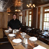 Chris Bruno stands in the newly renovated tavern room at his Foundry Kitchen and Tavern located in the former Stone River Grille in Sandy Hook Center. The experienced chef, restaurateur, and consultant has been cooking since age 16, and has completely remade the landmark eatery with new interior designs, menu, and plans for a charcuterie on the second floor opening in August.  (Voket photo)