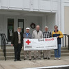 Newtown Lions Club will host its annual spring blood drive on Monday, May 13, from 8:30 am until 6:15 pm. Conducted by the American Red Cross, the blood drive will be in The Great Room at Newtown Congregational Church, 14 West Street. Appointments are available, and can be made by calling 800-RED-CROSS (800-733-2767); walk-ins will also be welcome on Monday. Dunkin Donuts will be providing coffee and light refreshments for those who give blood that day. Standing outside the church where the event will be conducted later this month are, from left, Lions Club members Auggie D'Alessandro, Frank DeLucia, John Kopins, Bruce Walczak and Kevin Corey.   (Hicks photo)