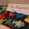 Clay dragons created by NMS seventh grade students were some of the artwork on display during the school's Celebration of the Arts on April 30.   (Hallabeck photo)