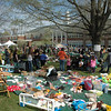 Hundreds of residents turned out on a clear, mild Saturday, April 27, for the town's 6th Annual Earth Day Festival held on the front lawn at Newtown Middle School on Queen Street.   (Gorosko photo)