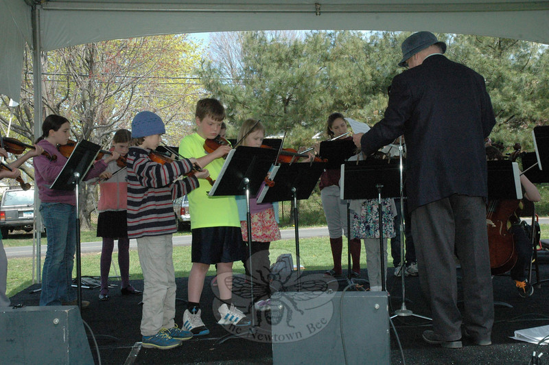 The Housatonic Valley Waldorf School Musicians performed for those attending the 6th Annual Earth Day Festival at Newtown Middle School on April 27.  (Gorosko photo)