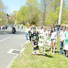 "Residents came out to welcome riders arriving in Sandy Hook as they entered town from Monroe near Great Quarter Road Sunday, May 5. Flags were a common sight along the route taking the Green Ribbon Ride from Shelton, through Newtown, to Trumbull.   (Bobowick photo)<br /> <br /> PLEASE NOTE: Additional photos from this event, which were presented online in a slideshow, can be viewed here:<br />  <a href=""http://photos.newtownbee.com/Journalism/Special-Events/Sandy-Hook-Green-Ribbon-Ride/29458684_BXBXWC#!i=2516266238&k=8R8PGw5"">http://photos.newtownbee.com/Journalism/Special-Events/Sandy-Hook-Green-Ribbon-Ride/29458684_BXBXWC#!i=2516266238&k=8R8PGw5</a>"