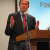 US Senator Richard Blumenthal spoke on the need for improved gun control at a May 7 meeting of the Newtown Action Alliance.   (Gorosko photo)