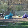 Playgrounds bordered by woods on two sides, behind the main facility, provide children with a peaceful place to explore and have fun.   (Crevier photo)