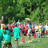 Enthusiasm was as high as the temperature, Friday, May 31, as Head O' Meadow Elementary School students gathered in the field behind the school to take part in Spirit Day. Fourth grade students kicked off the events with a tug-o-war overseen by Head O' Meadow phys ed teacher Steve Dreger.   (Crevier photo)
