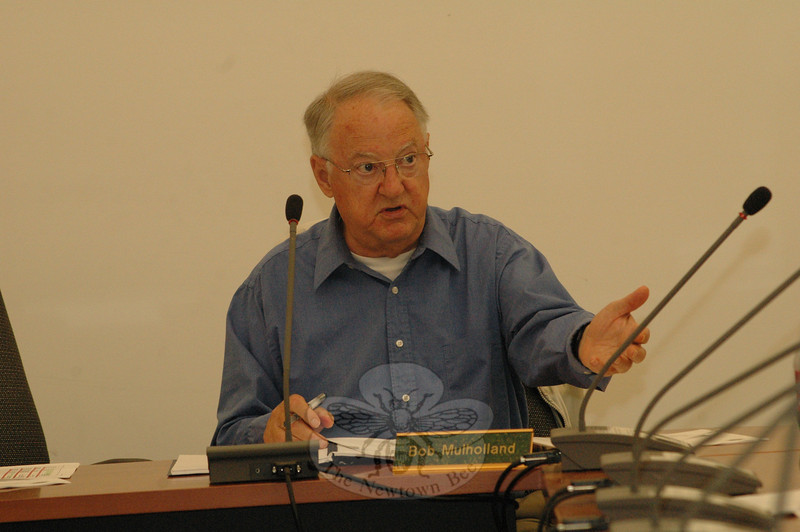 "Planning and Zoning Commission Vice Chairman Robert Mulholland makes a point at a June 6 P&Z session at which commission members refined the concept of ""community character""  in the ongoing update of the 2004 Town Plan of Conservation and Development. (Gorosko photo)"
