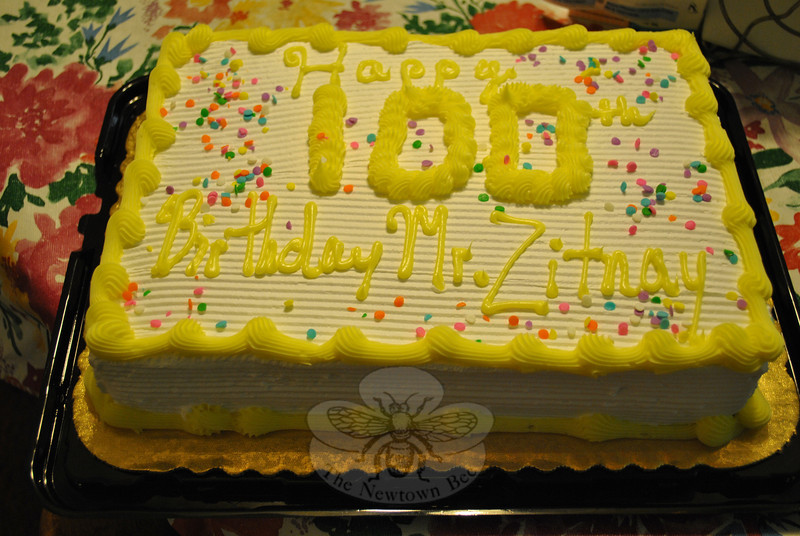 Newtown resident Marshall Zitnay celebrated his on his 100th birthday on Thursay, June 7.	—Bee Photo, Crevier