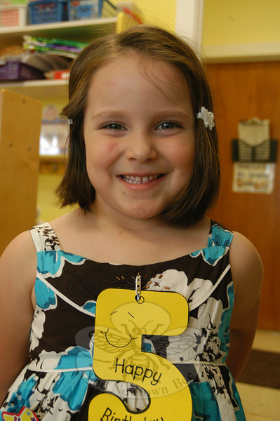 Newtown Bee: What makes your father special? Valaria Gutierrez: He helps me put on my covers when I go to sleep.   (Hallabeck photo)
