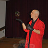 """Bubble expert Casey Carle was at Head O'Meadow School on Thursday, May 24, for a  """"BubbleMania!"""" presentation.   —Bee Photo, Crevier"""