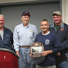 "Sandy Hook Fire & Rescue Firefighter Richard ""Archie"" Paloian was named 2012 Outstanding Firefighter of the Year during the company's annual meeting on June 4. With him, from left, are Steve Stohl, Ken Carlson, and Chuck Kilson, members of the Outstanding Member Committee.    —Bee Photo, Hicks"