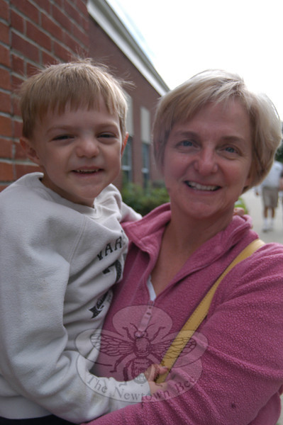 Newtown Bee: What do you think should be a priority in the 2012-13 budget? Beth Meszaroz (with Ben): Making special education a top priority. —Bee Photo, Hallabeck