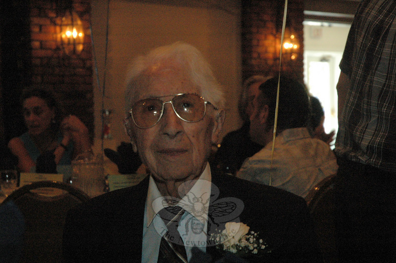 Thomas J. Pace, Sr, of Newtown, who turned age 100 on Sunday, August 29, was feted on that day at a birthday party attended by almost 100 family members and friends at The Stony Hill Inn in Bethel. (Gorosko photo)