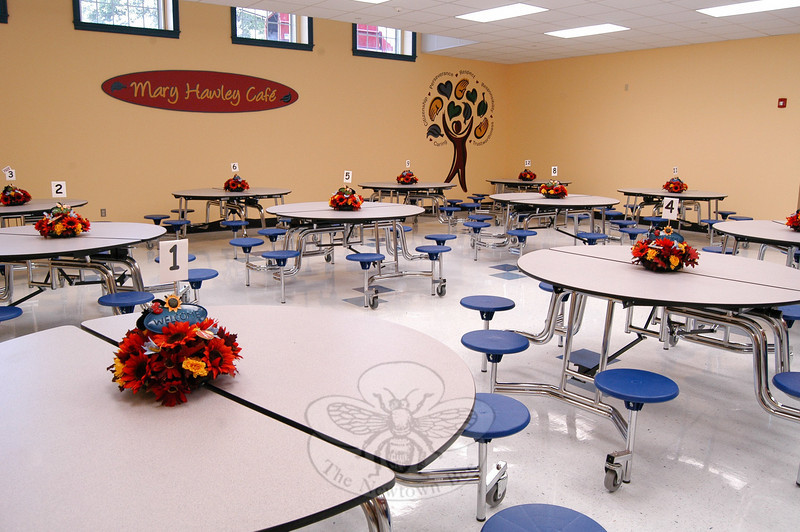A look at the finished Mary Hawley Café on Tuesday, August 31, the day before school started for the 2010-11 school year.  (Hallabeck photo)