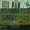 A large sign advertised the Ukrainian Festival on Hattertown Road.  (Gorosko photo)