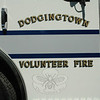 The passenger door on the new Rescue/Engine 221 for Dodgingtown volunteer firefighters.  (Gorosko photo)