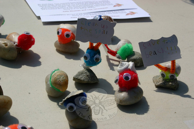Using just a little bit of glue and a lot of creativity, Julia and Liza created these seashell creatures for their Walk For Wildlife fundraiser. The girls offered the creatures in exchange for donations on July 17.  (Hicks photo)