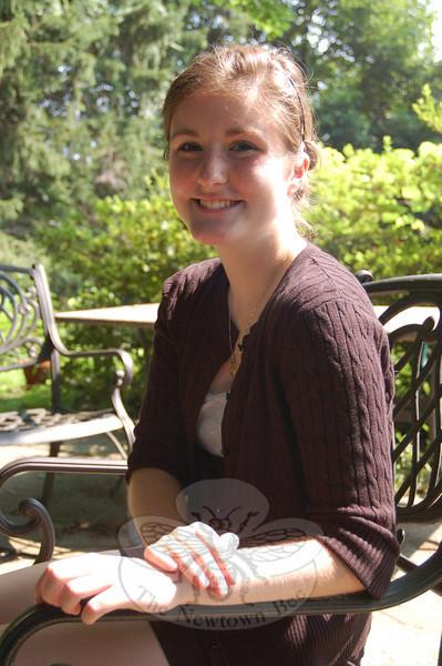 Rising Newtown High School senior Dani Villa began her new intern position with The Newtown Bee on Wednesday, July 14.  (Hallabeck photo)
